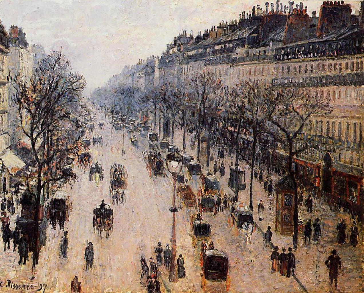 Бульвар Монмартр, зимнее утро
