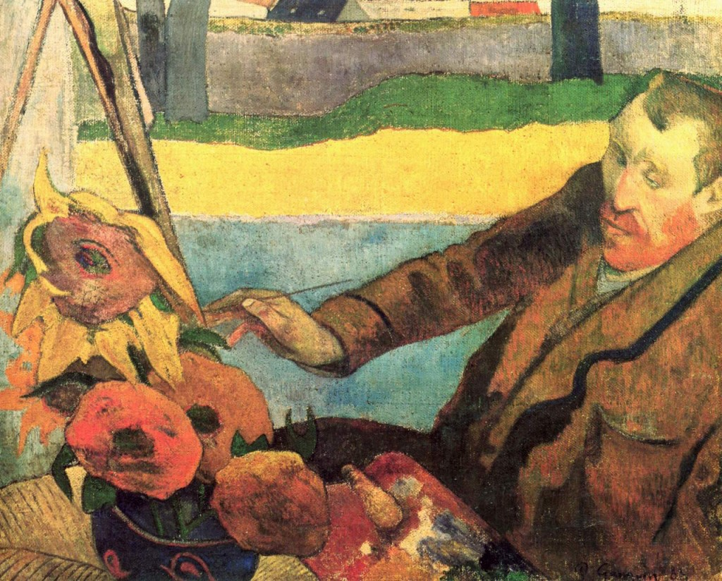 Поль Гоген. «Портрет Винсента ван Гога, рисующего подсолнухи».