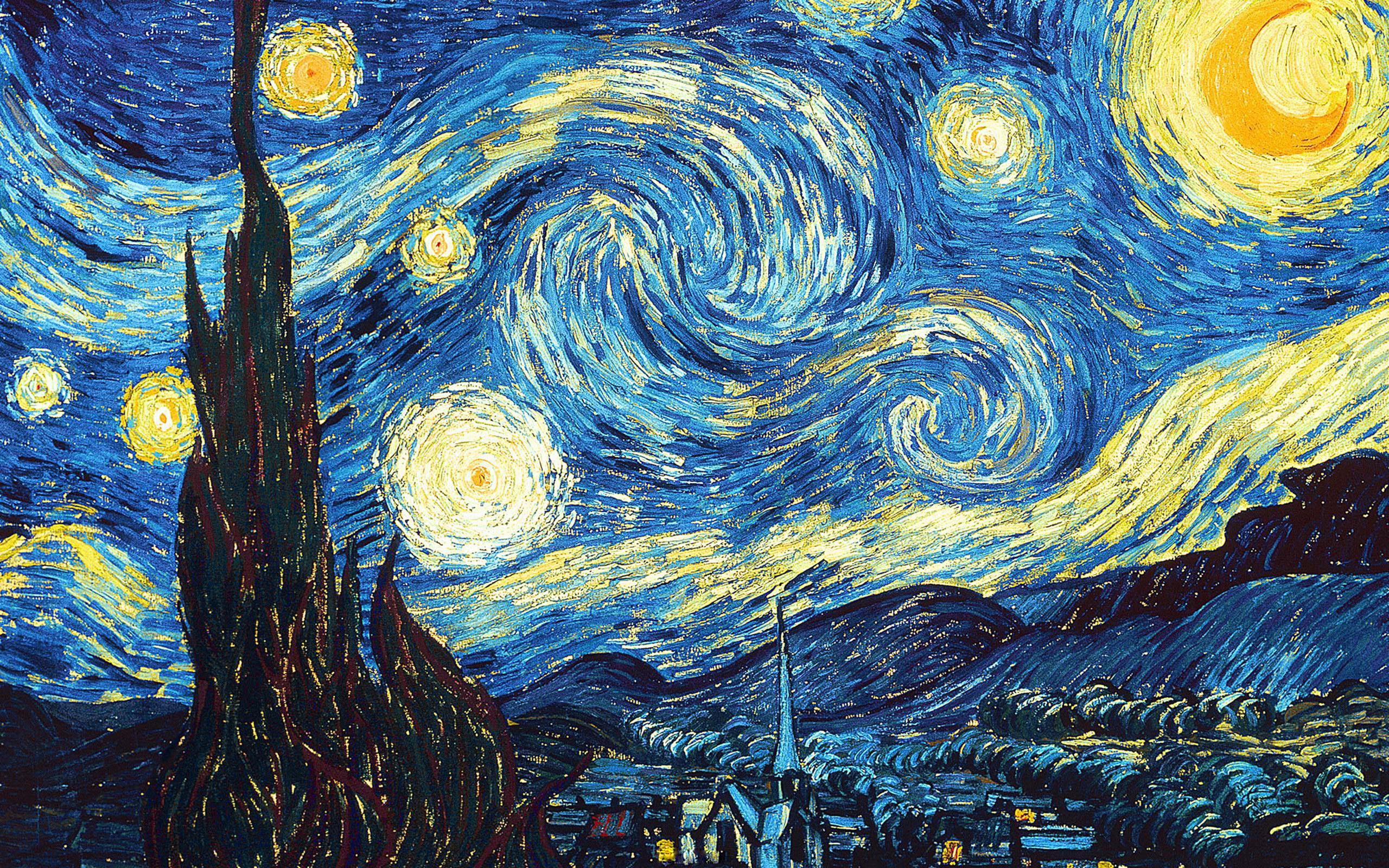 Звёздная ночь, Ван Гог