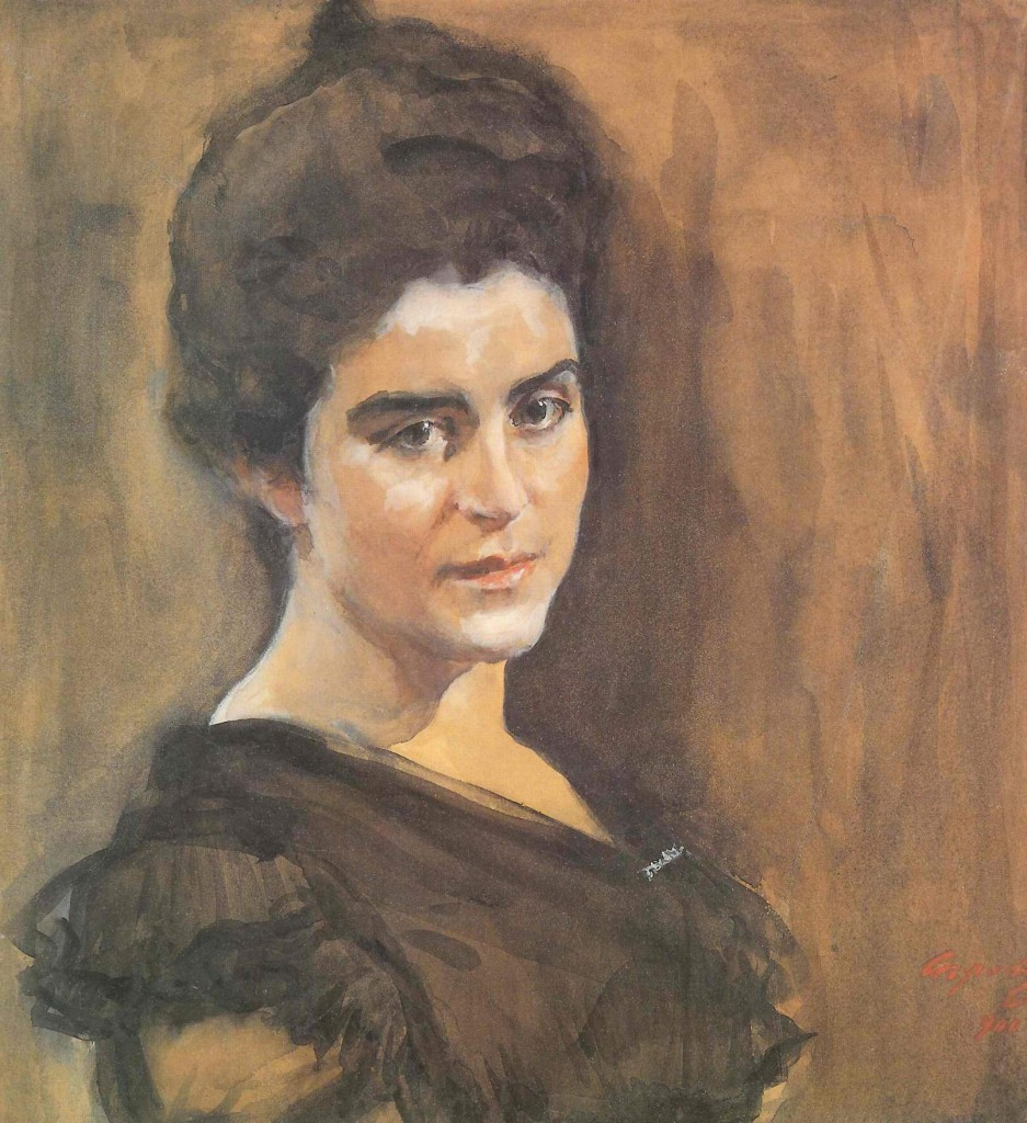 Портрет С. М. Лукомской, В. Серов
