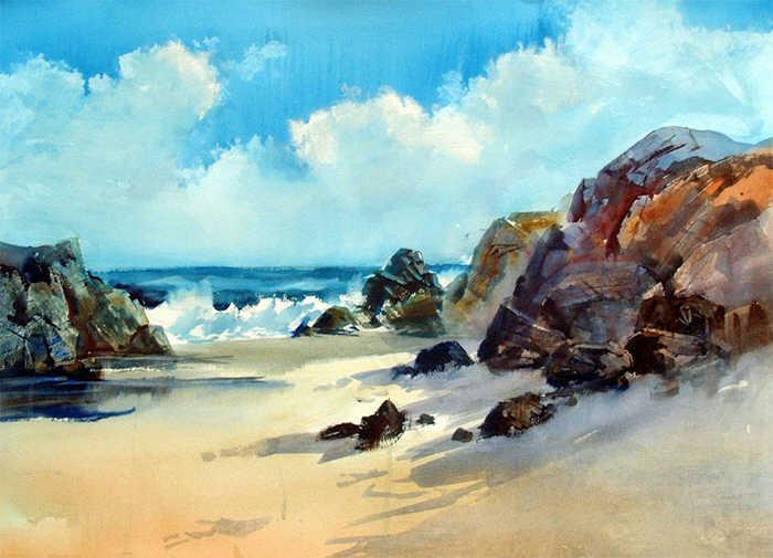 Морской пейзаж, Арнольд Лоури