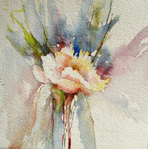 Цветы акварелью, Катрина Джонс